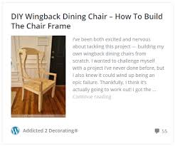 Build Dining Chair Diy Wingback Dining Chair U2013 How To Upholster The Frame Part 1