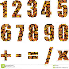 halloween numbers royalty free stock photos image 10922098