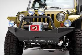 jeep bumpers amazon com body armor 4x4 jk 19531 black steel front winch