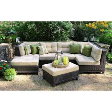 Curved Modular Outdoor Seating by Patio Conversation Sets Outdoor Lounge Furniture The Home Depot