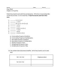 addition and multiplication properties worksheet u0026 zero property