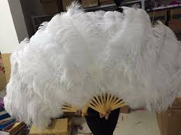 ostrich feather fans woosee big ostrich feathers fan with bamboo staves for belly