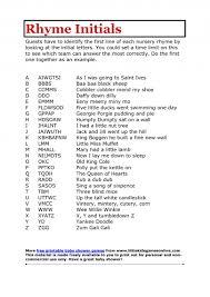 nursery rhyme baby shower photo rhyme initials nursery rhyme image