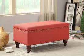 Storage Bench Bedroom Fabric Storage Bench Bedroom Ottoman Linen Upholstered Chest Foyer