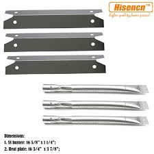 charmglow gas l parts hisencn bbq parts ss burner tube ss heat plate shield replacement