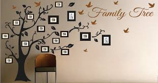 wall design ideas family tree wall picture frame family
