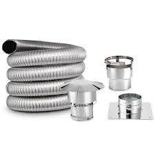 smooth and double wall 35 foot chimney liner kit