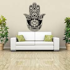 compare prices buddha wall art stickers online shopping buy dctop indian buddha lotus hamsa hand wall sticker home decor vinyl art murals living room sofa