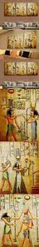 36 best egyptian images on pinterest ancient egypt egyptian art 3 pieces set triple abstract picture egyptian mural escape modern home decor print canvas painting wall art pictures frameless