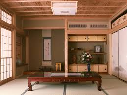 Japanese Living Room Harmonious And Calm Japanese Living Room Idea With Long Table And