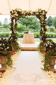 wedding arches plans this wood arbor laced with white roses hydrangeas and green ivory
