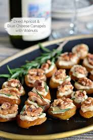 appetizer canape dried apricot and blue cheese canapes with walnuts tidymom