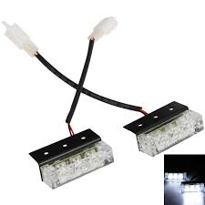 led strobe lights for motorcycles car motorcycle 2x3 6 led one dragged two car flashing light strobe