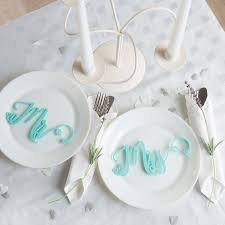 mr and mrs table decoration mr and mrs wedding place settings table decorations by funky laser