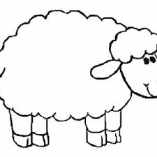 picture sheep coloring coloring sky