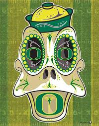 Oregon Ducks Meme - university of oregon duck sugar skull 11x14 print oregon ducks