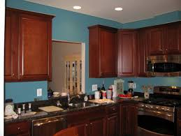 kitchen paint colors with cherry cabinets cabinets black granite