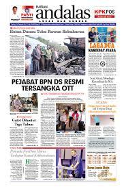 epaper andalas edisi selasa 14 februari 2017 by media andalas issuu