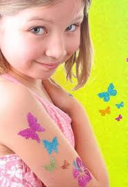 how to make temporary tattoos and diy glitter tattoos for kids