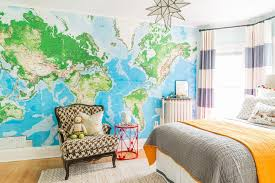 Toddler Bedroom Toys Children Bedroom Map Wallpaper Eclectic Bedspread With Realistic