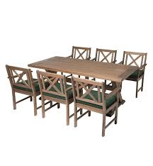 Dining Table And Six Chairs Outdoor Eucalyptus Table U0026 6 Chairs Plow U0026 Hearth