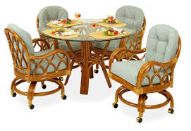 Factory Catalog Rattan And Wicker Furniture For Your Dining Room - Rattan dining room set