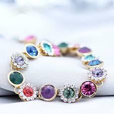 multi bracelet images Gold plated multi flower bracelet teen 39 z store jpg