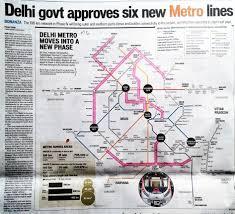New Delhi Metro Rail Map by Delhi Govt Approves Six New Metro Lines U2013 Hindustan Times U2013 15