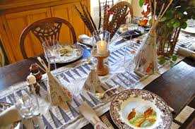 holiday tablescape from thanksgiving to christmas