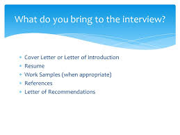 preparing students for a job interview ppt download