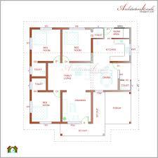 bedroom house plans architecture kerala bhk single floor kerala house