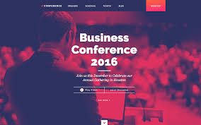 conference event html5 responsive website template
