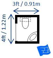 Bathroom Size Requirements 3ft X 4ft Half Bath Or Guest Bath Layout Bathroom Dimensions