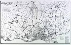 mercer map historical mercer county jersey maps