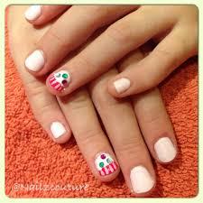 kids cupcake nails my nail art all hand painted pinterest