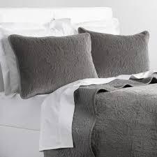 gray velvet quilt world market