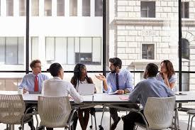 entreprise bureau réunion d équipe d entreprise constituée en société dans un bureau