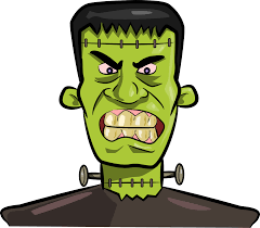 cute halloween clipart free black and white frankenstein clipart free cliparting com
