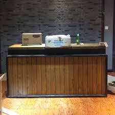 Vintage Reception Desk Usd 231 67 Retro Industrial Wind Collection Platform Barber Shop