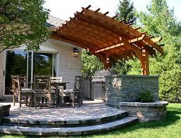 pergola with trellis contemporary outdoor kitchen pergola no kp6 by trellis structures