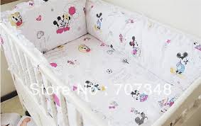 Mickey And Minnie Crib Bedding Mickey Mouse Minnie Infant Bedding Baby Crib Bedclothes Baby Crib