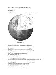 test 7 plate tectonics and earth u0027s structure plate tectonics
