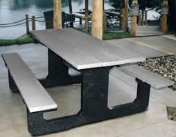 traditional walk thru picnic tables recycled plastic belson