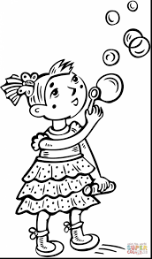astonishing coloring page with curly hair with little