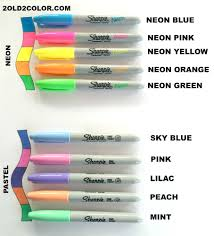 Names Of Purple by Sharpie Colors