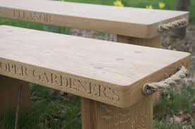 Engraved Benches Personalised Solid Oak Bench By The Oak U0026 Company