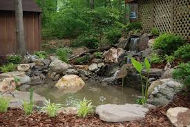 pond with waterfall landscaping fredericksburg va by stafford