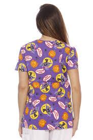 halloween scrub dreamcrest women u0027s scrub tops holiday scrubs nursing scrubs ebay