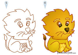cartoon lion drawings