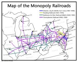 monopoly map all four railroads of the monopoly board oc 1147x912